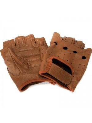 Odyssey Mike Aitken Fingerless Hellbent Gloves Brown