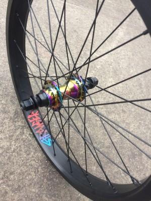 United Supreme Oil Slick Hub x Stranger Crux XL Rim Custom Wheel